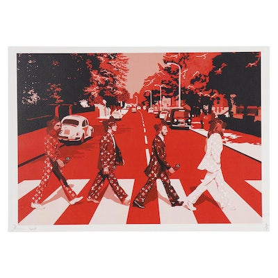 "Death NYC Offset Lithograph ""Beatles Cross Red W"""
