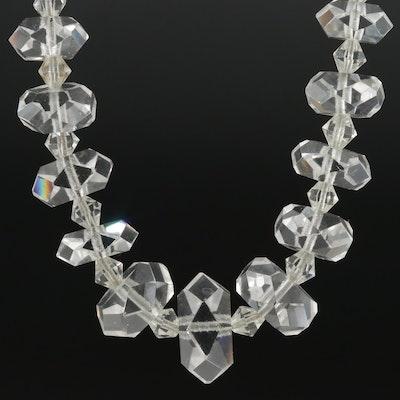 Beaded Rock Crystal Quartz Necklace