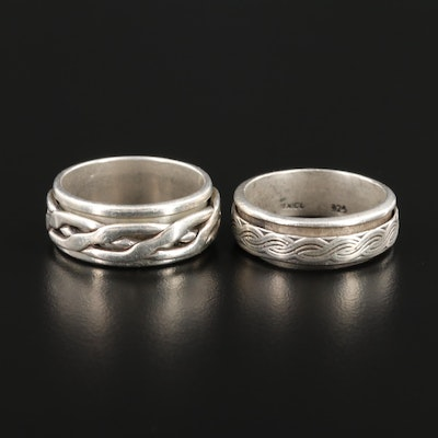 Mexican Sterling Silver Spinner Rings