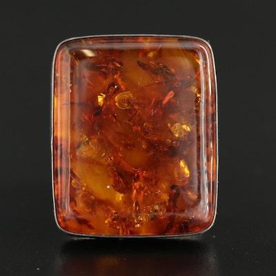 Desert Rose Trading Co. Sterling Silver Amber Ring
