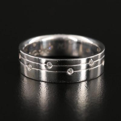 14K White Gold Cubic Zirconia Eternity Ring