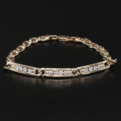 14K Yellow Gold 1.32 CTW Diamond Bracelet