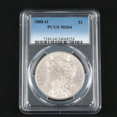 PCGS Graded MS64 1888-O Silver Morgan Dollar