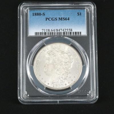 PCGS Graded MS64 1880-S Silver Morgan Dollar
