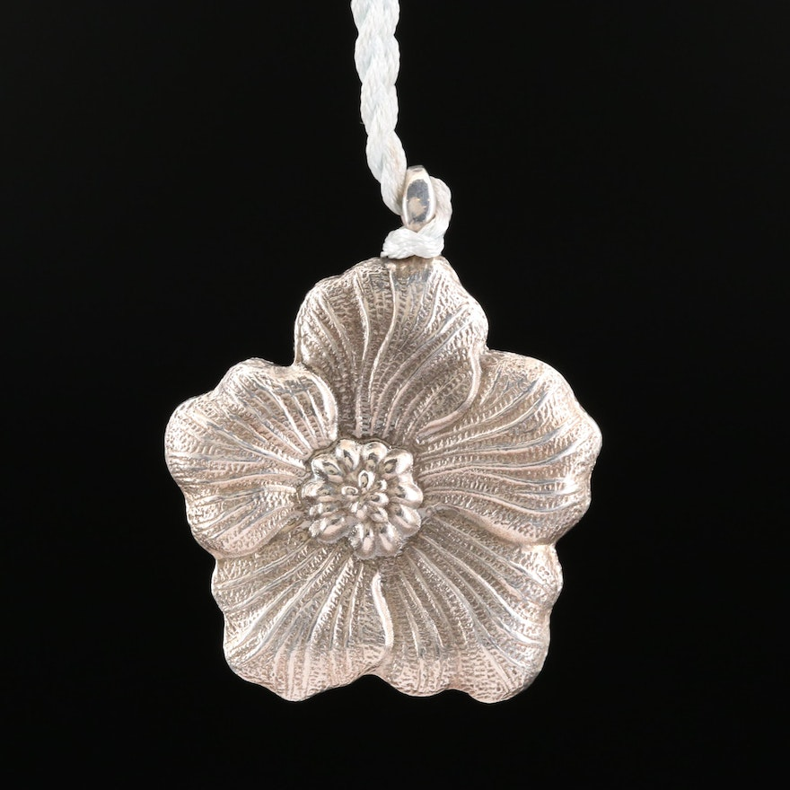 Gianmaria Buccellati Sterling Silver Flower Pendant Necklace