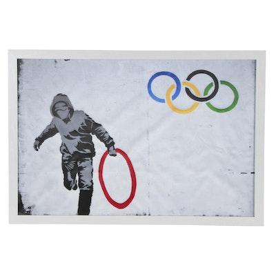 Giclée after Banksy Street Pop Art