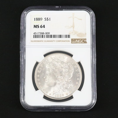 NGC Graded MS64 1889 Silver Morgan Dollar