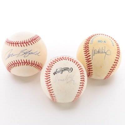 Chaney, Brumfield and Wilcox Signed Baseballs  COA
