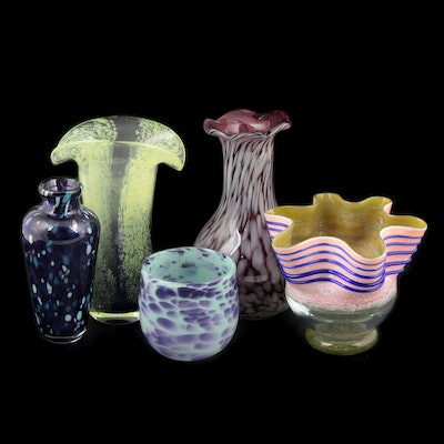 Blown Art Glass Vases