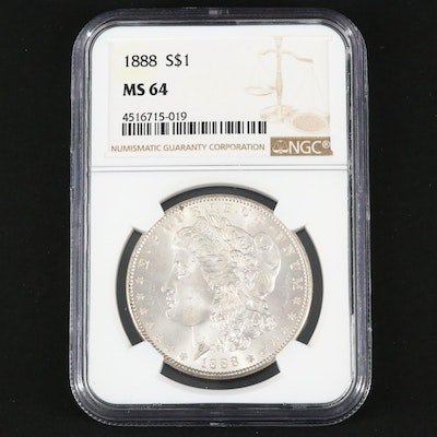 NGC Graded MS64 1888 Silver Morgan Dollar