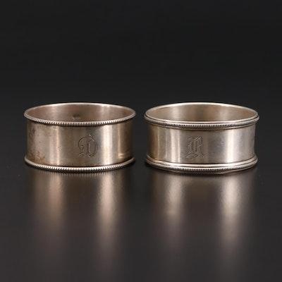 Rodgers Lunt & Bowlen Vintage Sterling Silver Napkin Rings