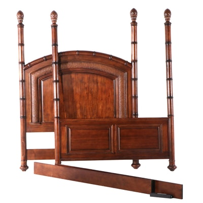 """Cindy Crawford Home """"Key West"""" Gmelina Wood and Faux Wicker Queen Size Bed Frame"""