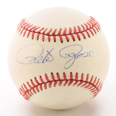 Pete Rose Signed National League (Giamatti) Baseball  COA
