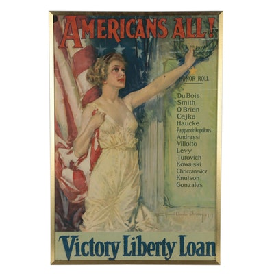 "Lithograph Military Poster after Howard Chandler Christy ""Americans All!"", 1919"