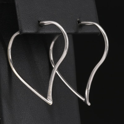 14K Freeform Hoop Style Earrings
