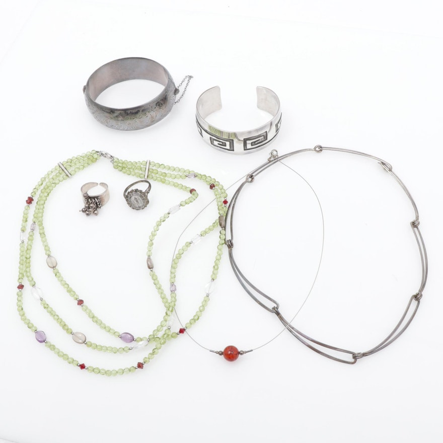 Sterling Silver Glass Assorted Jewelry