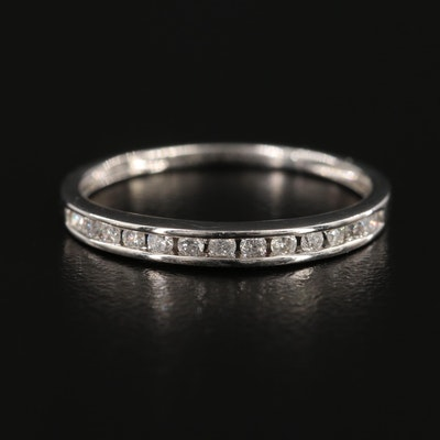 10K White Gold Diamond Channel Ring