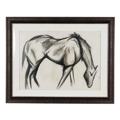 """Giclee Print """"Charcoal Horse III"""""""