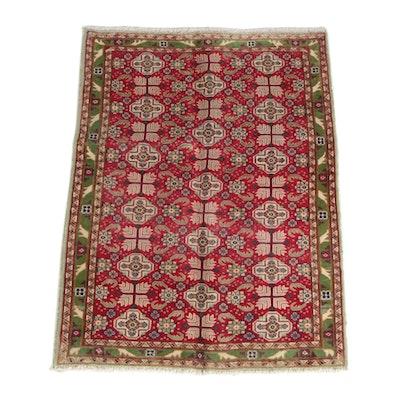 3'4 x 4'9 Hand-Knotted Pakistani Caucasian Kazak Wool Rug