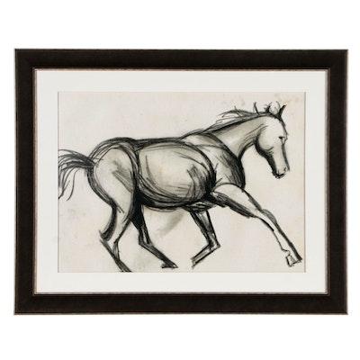 """Giclee Print """"Charcoal Horse I"""""""