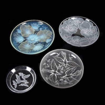 Verlys and Sasaki Art Glass Chargers and Plates