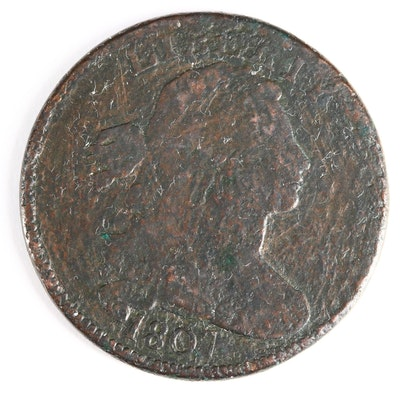 "1807 ""Small Fraction Variety"" Draped Bust Large Cent"