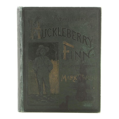 """1891 Edition """"Adventures of Huckleberry Finn"""" by Mark Twain"""