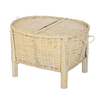 Woven Bamboo Storage Coffee Table
