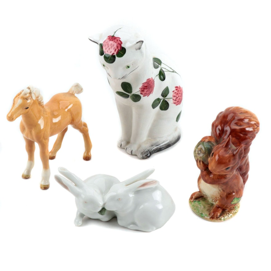 Royal Copenhagen and Beswick with Plichta Figurines, Vintage