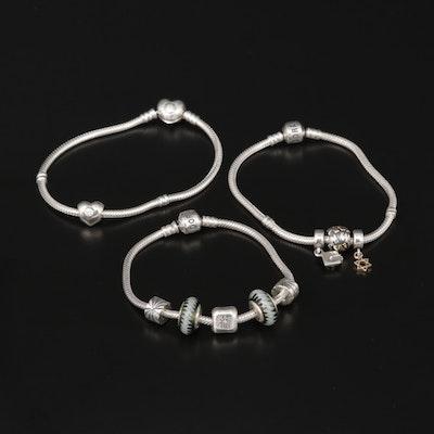 Pandora Sterling Silver Charm Bracelets