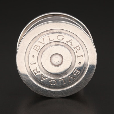 Bulgari Sterling Silver Pill Box