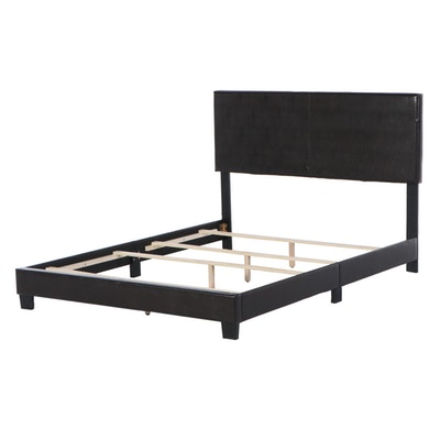 Faux Leather Upholstered Queen Bed Frame