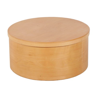 Modernist Style Round Bentwood Storage Coffee Table