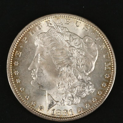 1881 Silver Morgan Dollar