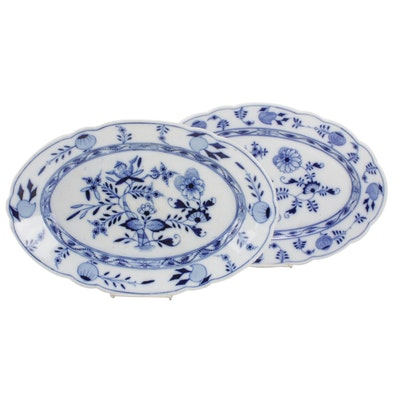 "Carl Teichert ""Blue Onion"" and Other Porcelain Serveware"