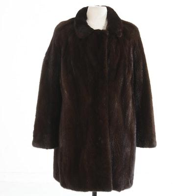 Christian Dior Fourrure Mahogany Mink Fur Coat