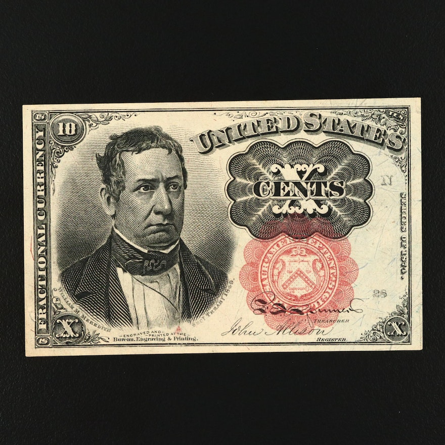1874 Fifth Issue United States Ten Cent Fractional Currency Note