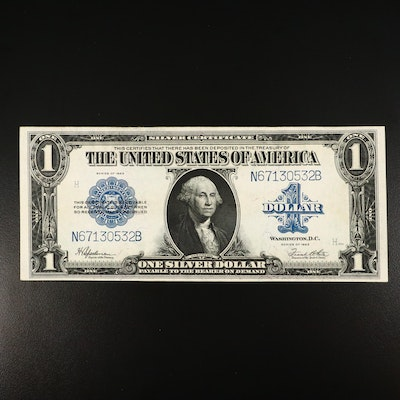 1923 Blue Seal $1 Silver Certificate Large Currency Note