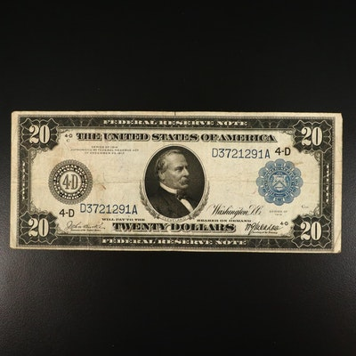 1914 Twenty Dollar Federal Reserve Currency Note