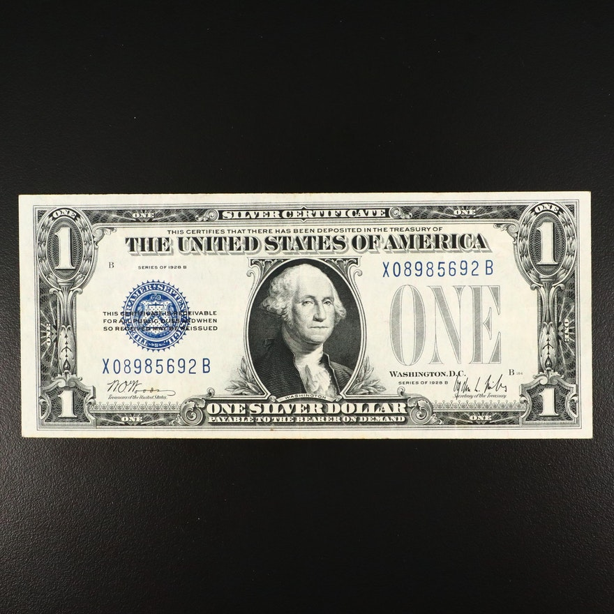 """1928-B """"Funny Back"""" $1 Silver Certificate"""