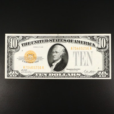 1928 $10 Woods/Mellon Gold Certificate
