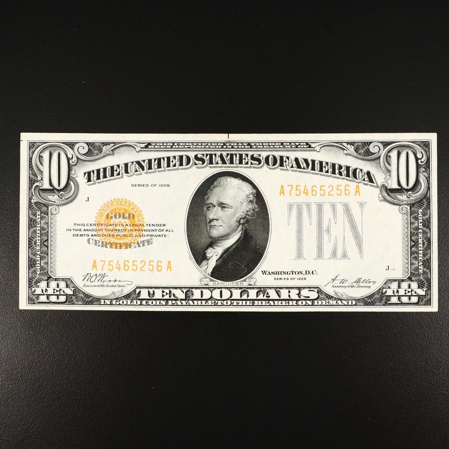 1928 $10 Woods/Mellon Gold Certificate