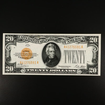 1928 $20 Woods/Mellon Gold Certificate