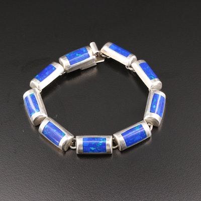 Mexican 950 Silver Link Bracelet