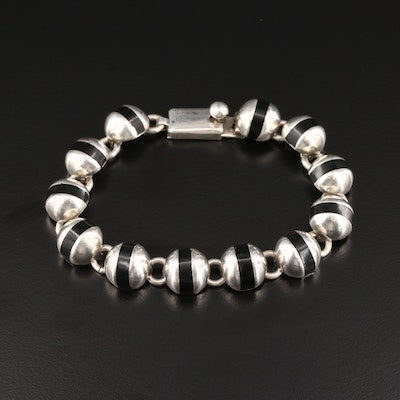 Mexican Sterling Silver Resin Bracelet