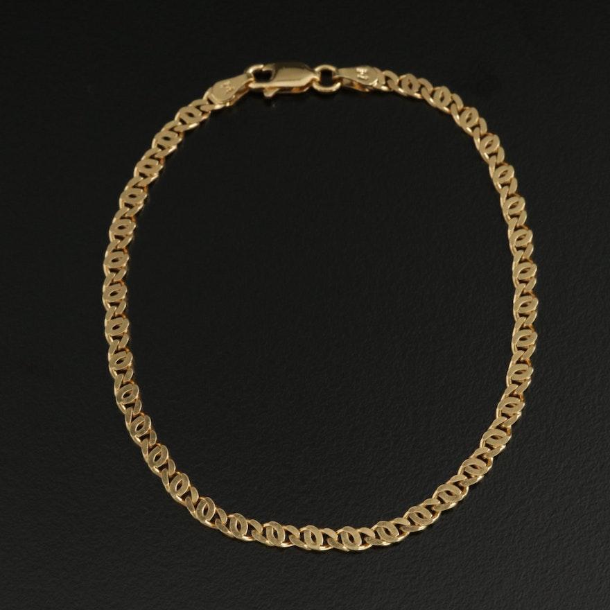 Milor Sterling Silver Curb Bracelet