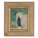 Bert Geer Phillips Oil Painting of Figure in Park Landscape