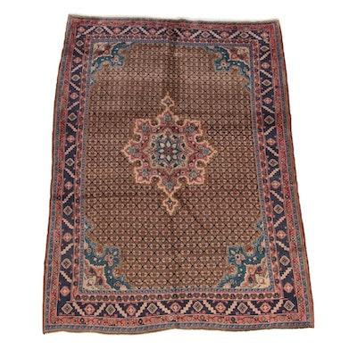 4'11 x 7'4 Hand-Knotted Persian Kolyai Shirshekeri Wool Rug