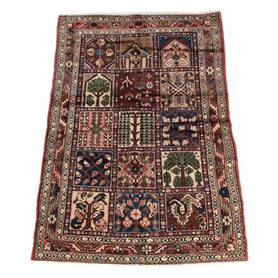 4'6 x 6'10 Hand-Knotted Persian Chahal Shotur Bakhtiari Wool Rug