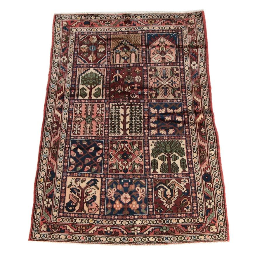 4'6 x 6'10 Hand-Knotted Persian Chahal Shotur Bakhtiari Wool Rug